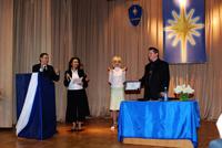 Вручение акад. Миание М.Ю. сертификата официального представителя МУФО в Украине