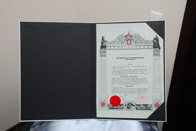 Диплом Рыцаря Мальтийского Ордена
